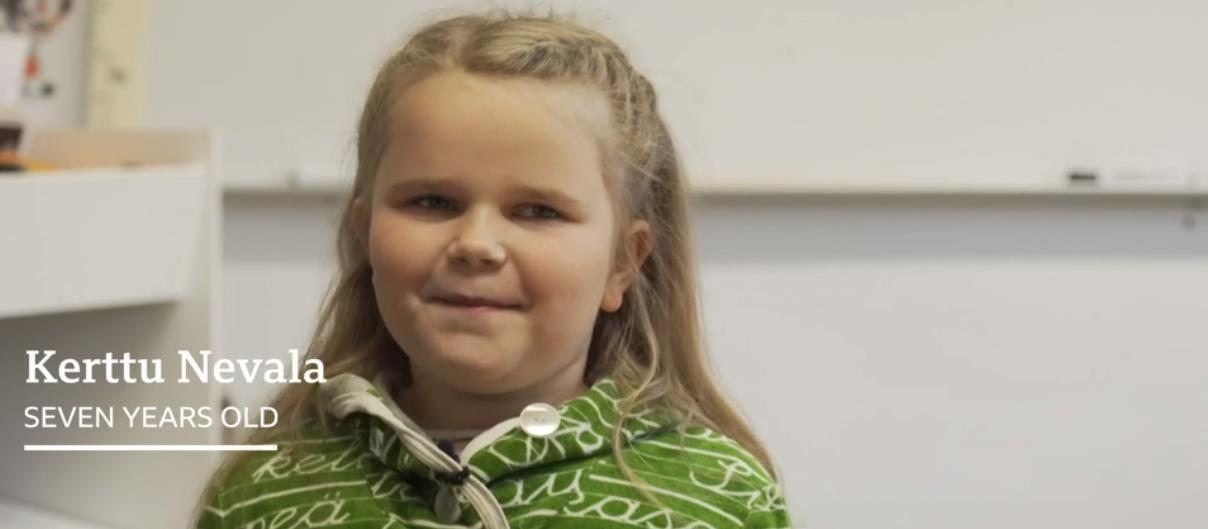 Девочка в Финляндии