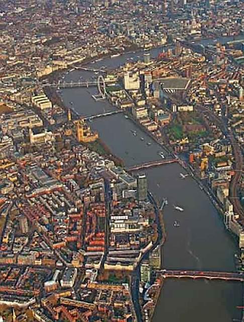 Семиметровая змея в реке Темза